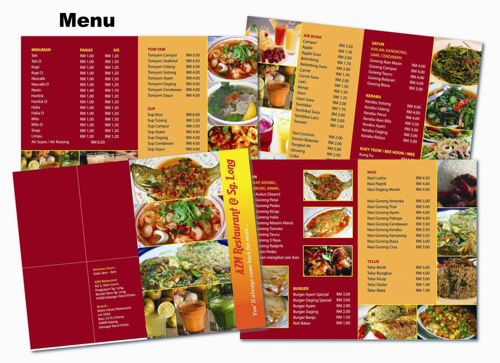 Beautiful Restaurant Menu Designs | inspiration design | Png ...