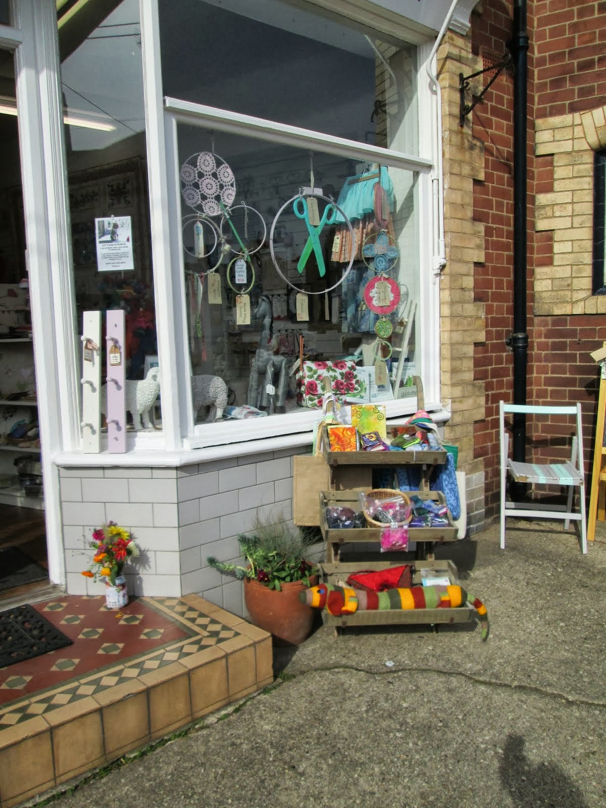 Maisie Daisy craft shop,Mill Street Sidmouth.Devon