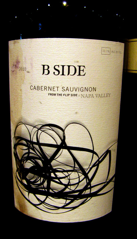 B-side wine label - from the Flip Side of the Napa Valley