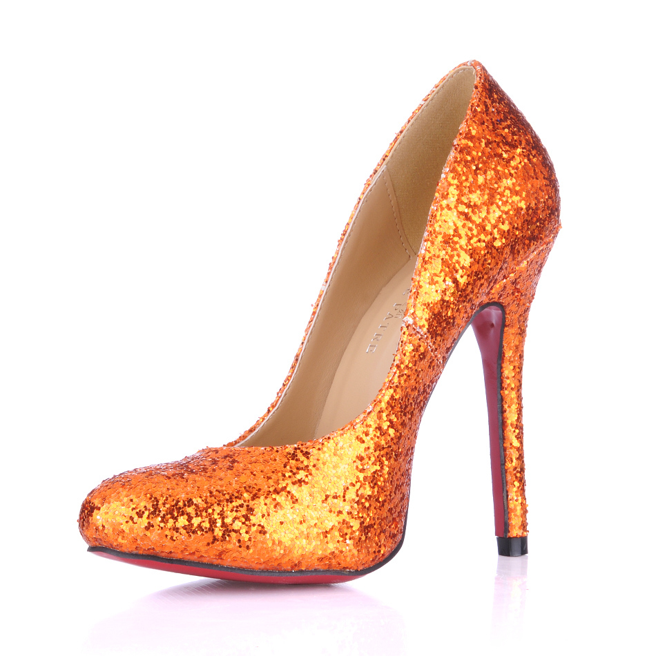 Orange High Heel Shoes Fashionate Trends