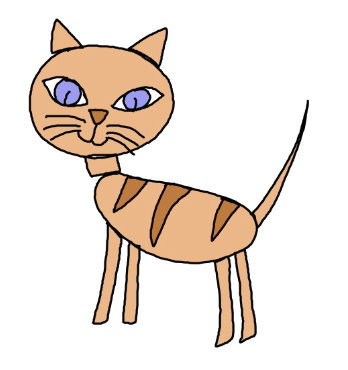 How to draw a cat easy step by steps for preschool and kindergarten kids