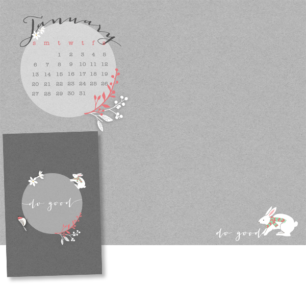 January 2013 Free Desktop Calendar and Wallpapers