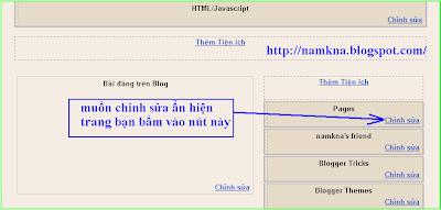 Hướng dẫn tạo thêm trang cho blogspot cực đẹp và nhanh - by: http://namkna.blogspot.con/