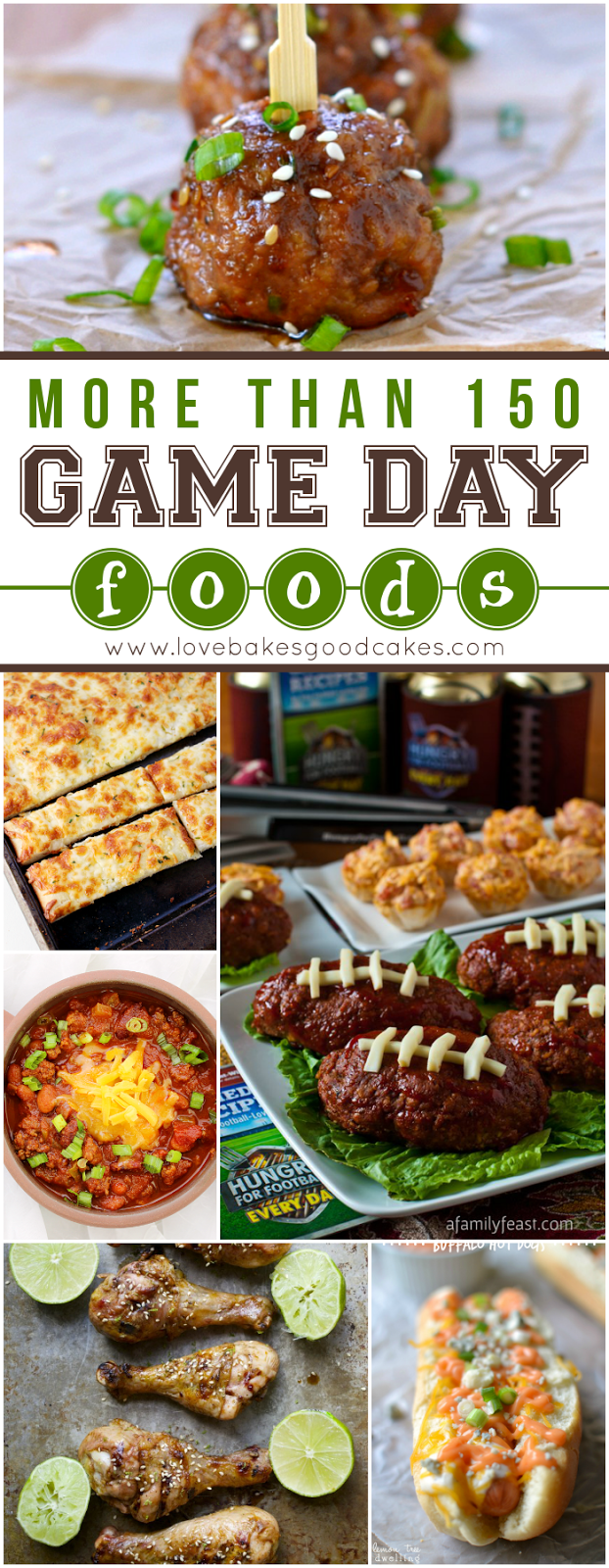 more than 150 Game Day Foods