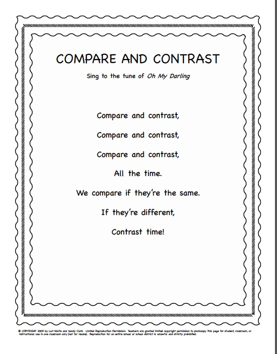 writing a compare and contrast essay elementary So the key to writing a compare and contrast essay is learning to do the research and organizing the information  courses related to writing essays  elementary .