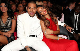 Rihanna and Chris Brown cuddling