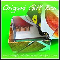 recycled magazine, origami box, gift box