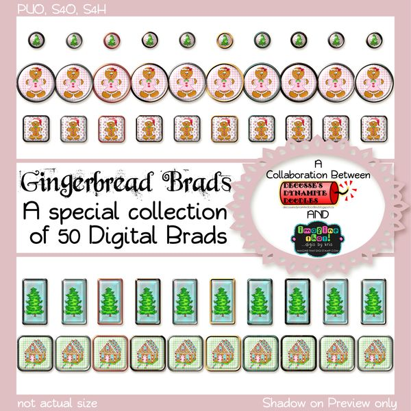 Join the Fun & Win this set of 50 Christmas Brads!!