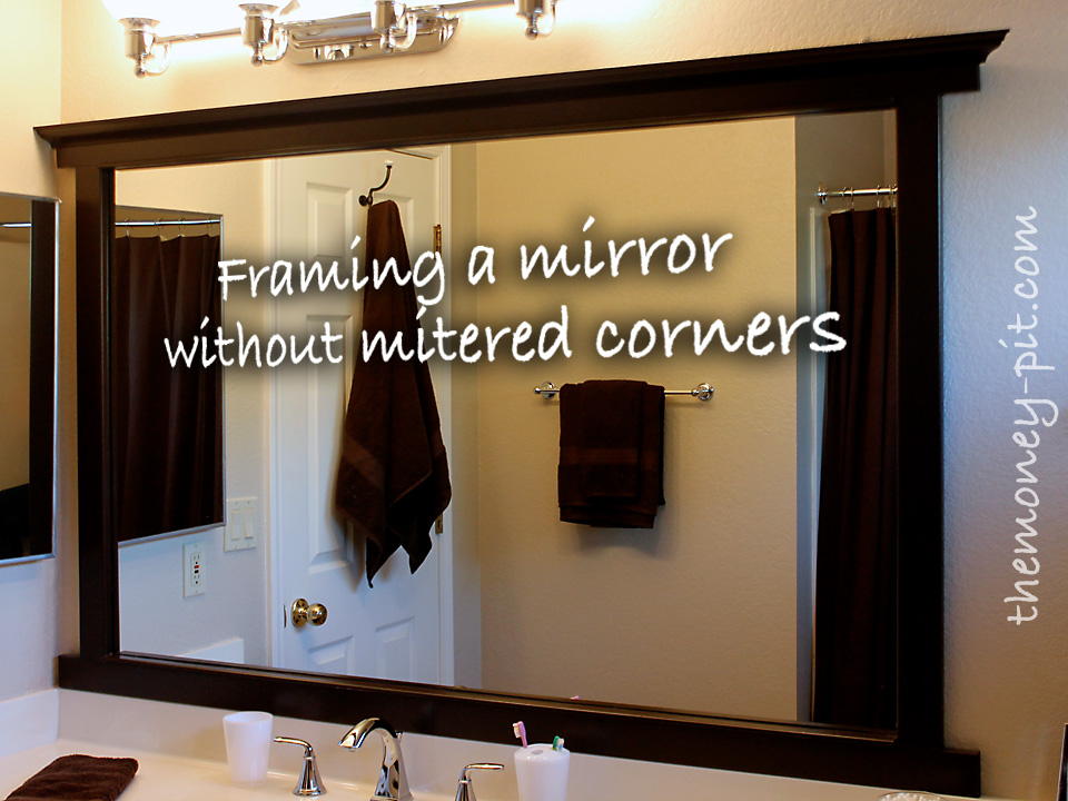 framing a mirror without miter cuts