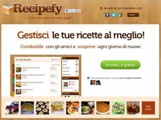 Social Network Ricette in italiano, Recipefy, condividere ricette di cucina