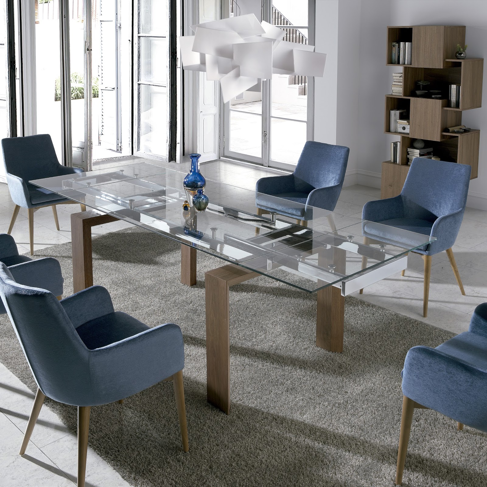 Mesas de comedor mesas de comedor extensibles de cristal for Mesas de comedor redondas de cristal
