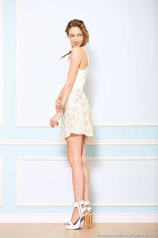 Moda mujer faldas de verano 2015, colección Uma 2015.