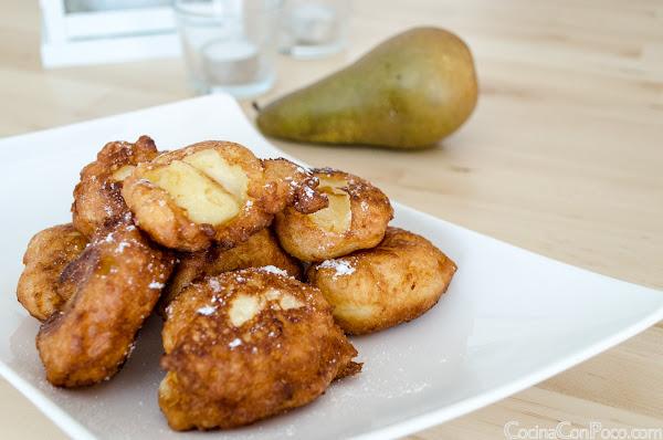 Buñuelos de Pera - Receta paso a paso - Sin Gluten
