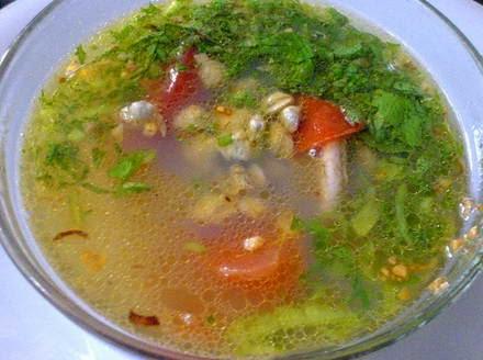 Cách nấu Canh trai nấu rau răm ngon