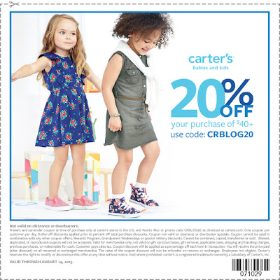 carter's coupon for back to school shopping #8isGreat #ad