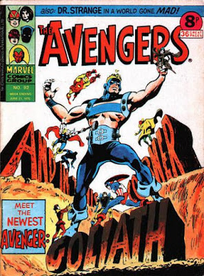 Marvel UK, the Avengers #92, the new Goliath