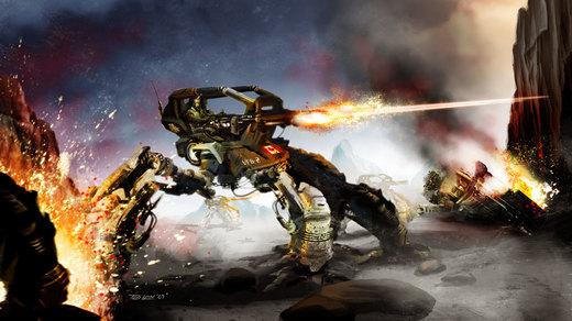 Mech Battle por TedKimArt