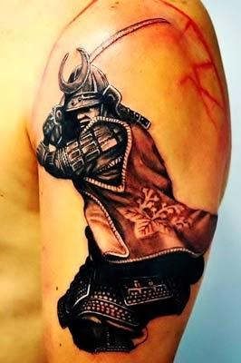 tattoo de samurai no braço e seus significados