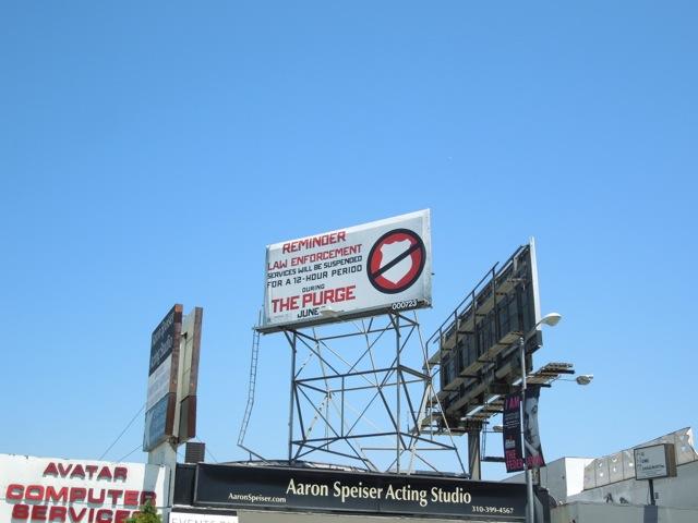 Purge movie Law billboard