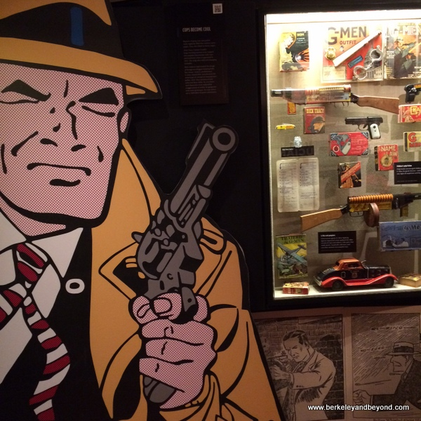weapon display at The Mob Museum in Las Vegas, Nevada