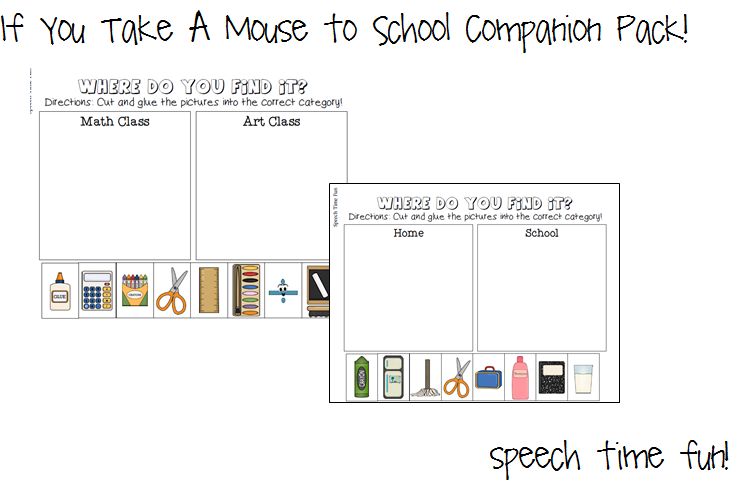 Worksheet If You Take A Mouse To School Worksheets if you take a mouse to school companion pack lets describe card game vocabulary based on storyschool theme students will be provided with visual assist them for each description made