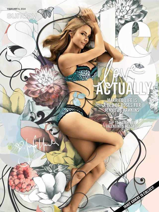 Jennifer Hawkins para Sunday Style Magazine febrero 2014