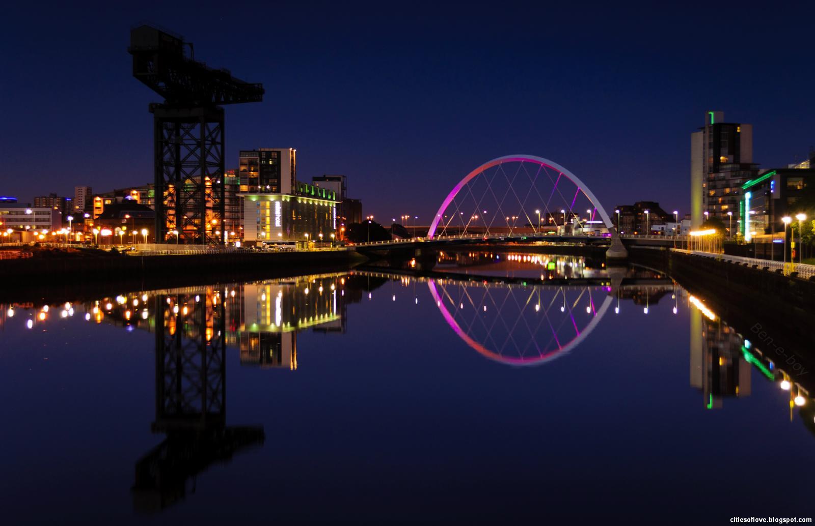 glasgow beautiful scottish evening scotland hd desktop wallpaper