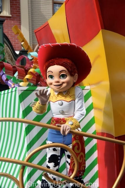Jessie in the Move It Shake It Celebrate It Street Party at Magic Kingdom