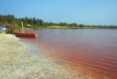 Lago rosa de Senegal