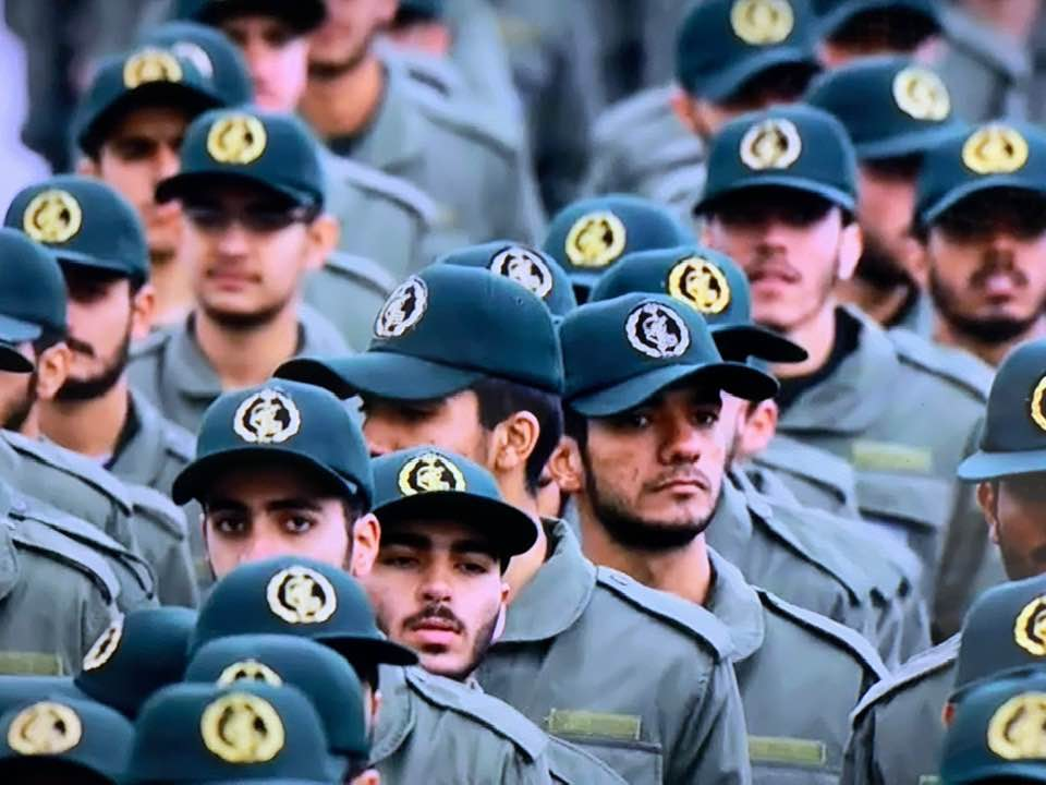 IRANIAN REPUBLICAN GUARD: NOW A TERRORIST ORGANIZATION.
