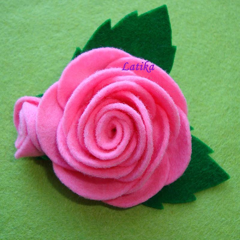 Как сделать из флиса розу