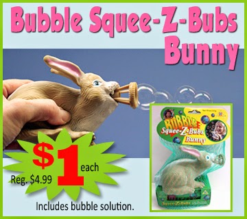 Bubble Squee-Z-Buds Bunny - kids gift