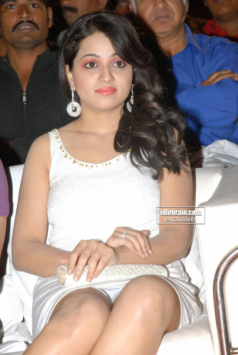 Reshma In Mini White Skirt At Sriram Music Launch