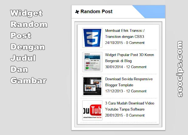 Widget Random Post Dengan Gambar