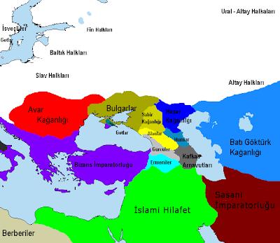 Sabirler - Sibirler devleti haritasi