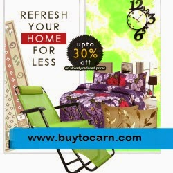 Buy Home Decor, Furniture, Lighting & Furnishing Rs. 200 off on Rs. 400 & 5% off : Buy To Earn