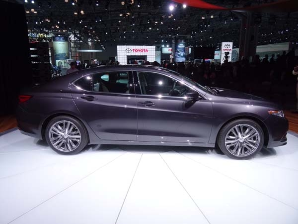 New York Show Acura TLX New 2015 performance side view