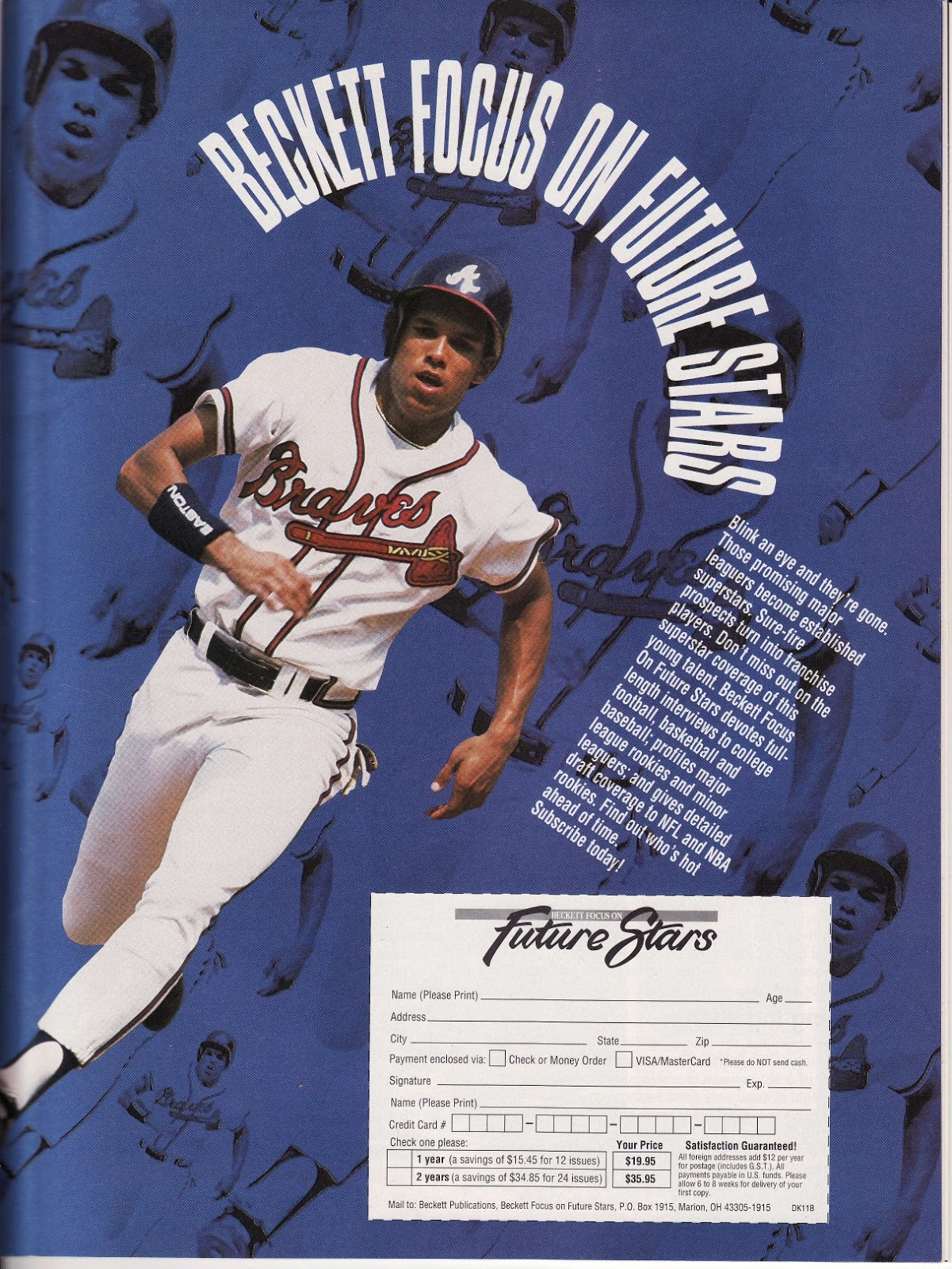 Braves Beckett ad from Beckett Basketball Monthly