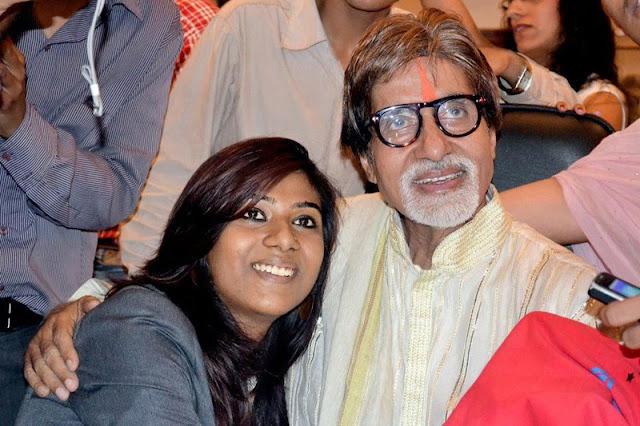 Kankana Chakraborty with Amitabh Bachchan