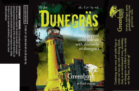 Greenbush Dunegras label