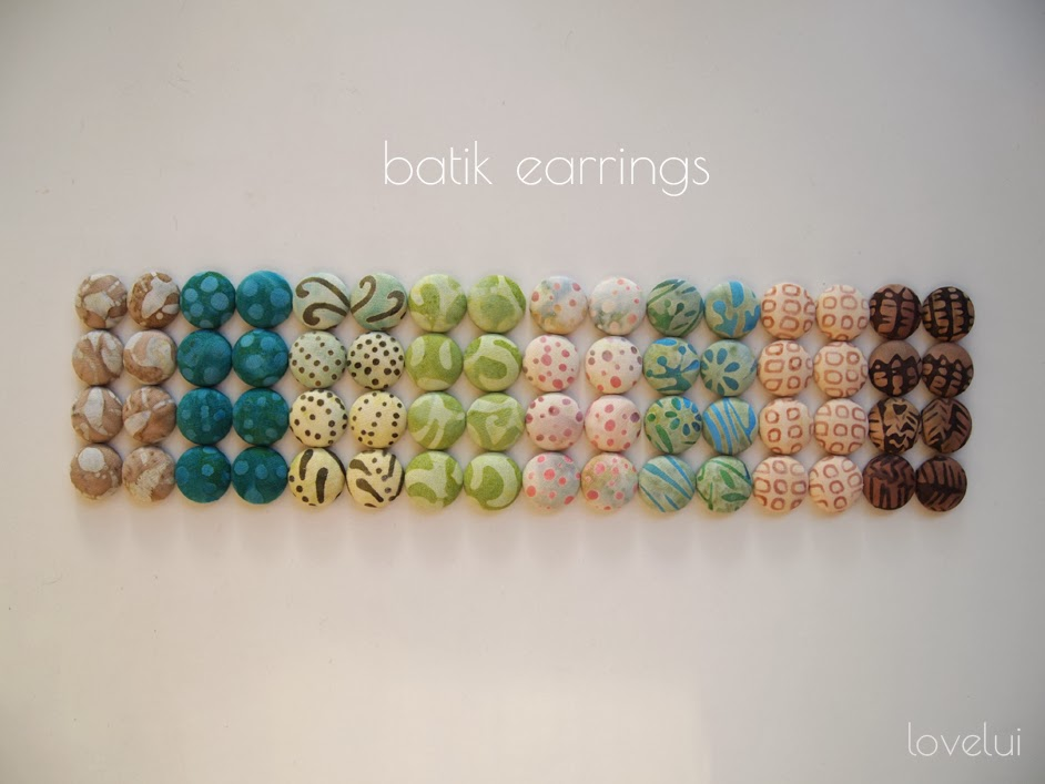 bohemian batik earrings