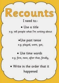 teaching grade 2 children how to write a recount
