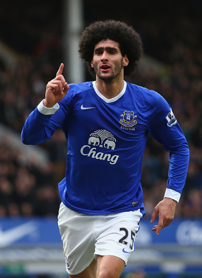Maroane Fellaini Midfielder Everton 20132014