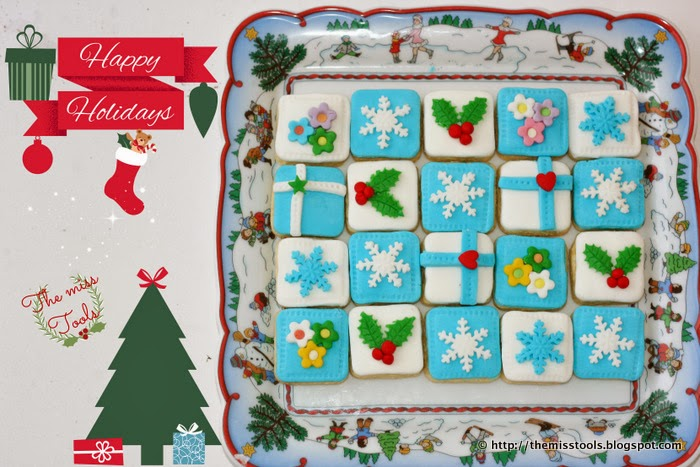 biscotti decorati segnaposto e auguri di buon natale - decorated cookies and merry christmas