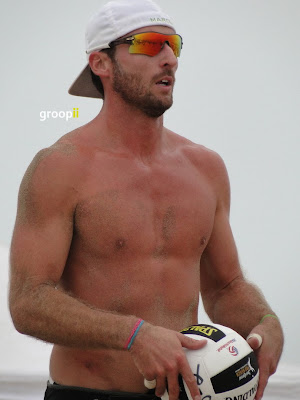 Marcin Jagoda Shirtless at Hermosa Beach Open in 2011