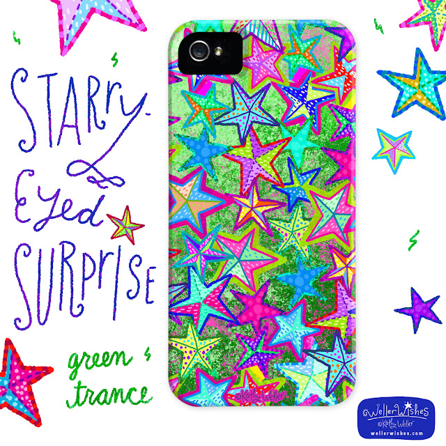 Starry Eyed Surprise iphone case by Kathy Weller WellerWishes