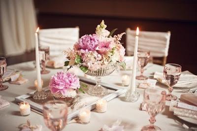 Romantic Vintage Wedding Centerpieces