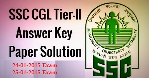 SSC CGL Tier-2 Answer Key 2014