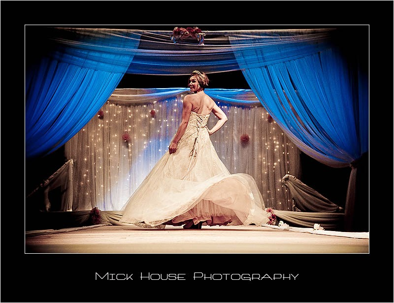 Wedding dress seen from behind