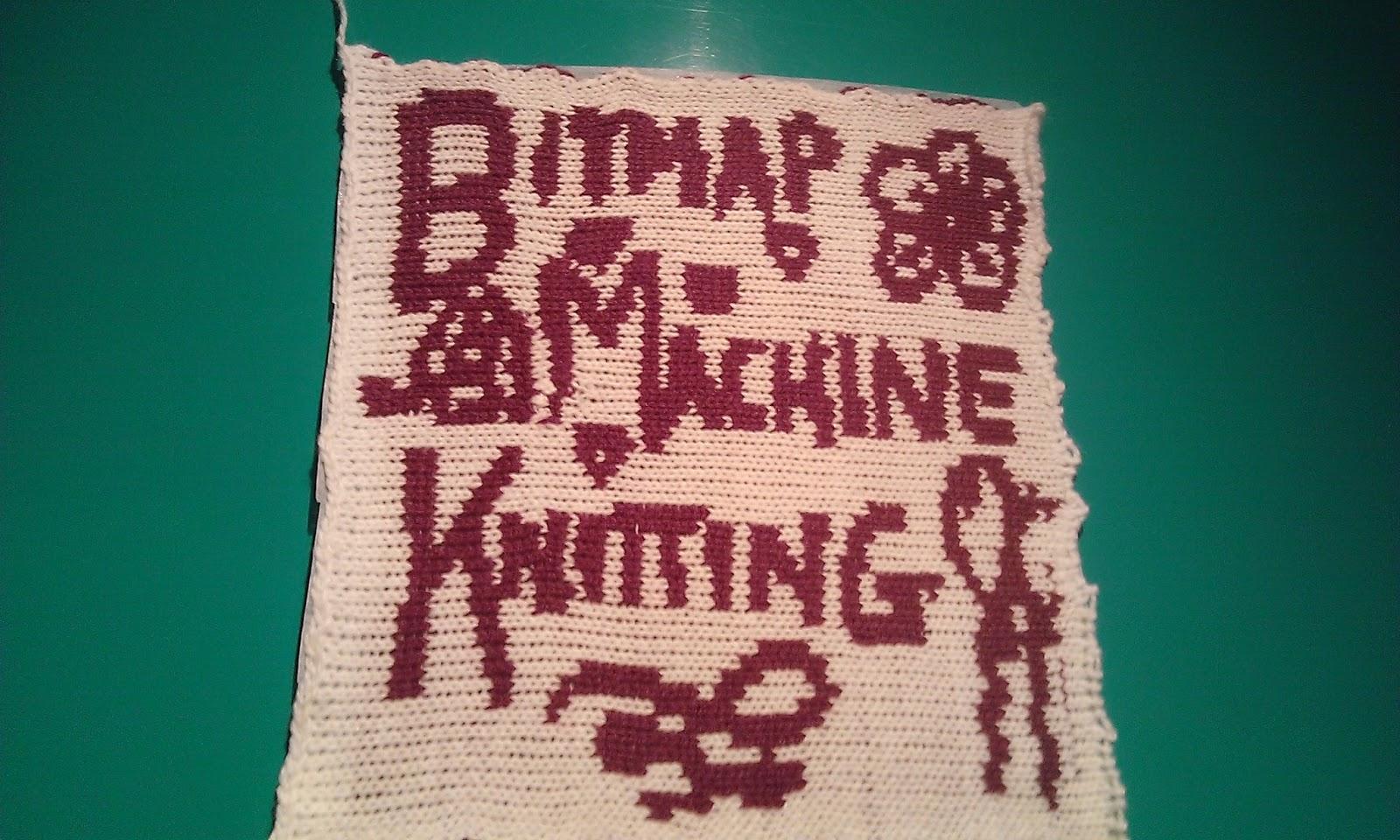 Knitted Bitmap Machine Knitting